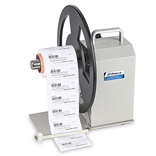 Frifreego Automatic Label Rewinder 1-9 Gears Speed-Adjustable Tags Rewinder Bidirectional Rewinding Machine Roll Diameter up to 230mm Synchronized with Printer 1/1.5/3inch Core Holder Label Width 90mm