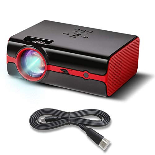 Video Projector, Newest Upgrade 2200 Lumens LED Portable Home Theater Projector with 1080P Support, Compatible with Fire TV Stick, PS4, Smart Phone, PC & More for Movies, TV and Gaming