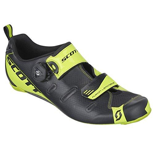Scott Tri Carbon Cycling Shoe - Men's Black/Neon Yellow, 43.0