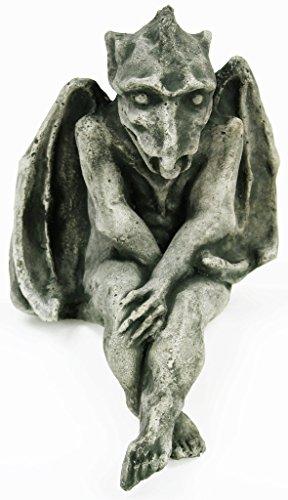 Fleur de Lis Garden Ornaments LLC Sitting Gargoyle Concrete Halloween Statue