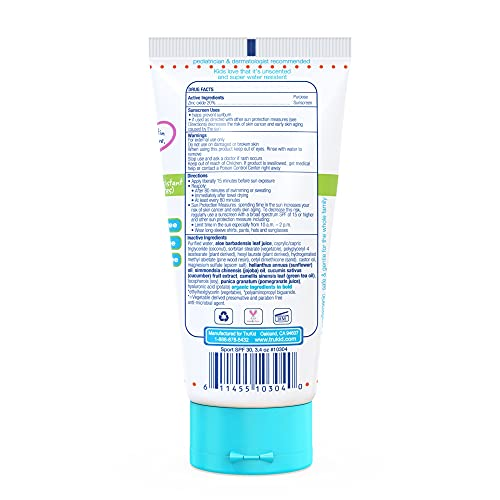 TruKid Sunny Days Sport SPF 30 UVA/UVB Protection Water-Resistant Sunscreen Lotion for Baby, Extra Mineral Based Body and Face Cream for Sensitive Skin, Unscented, All Natural Ingredients (3.4 oz)