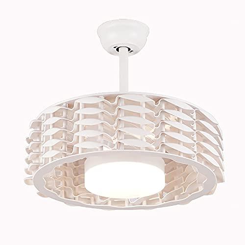 Candelabro LED Ventilador De Techo De 22 Pulgadas Reversible Sin Aspas, Ventilador De Control Remoto De 6 Velocidades Con Luz LED, Candelabro De Control De Atenuación De 3 Colores (white)