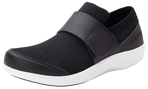 Alegria TRAQ Qwik Womens Smart Walking Shoe Black Top 6 M US