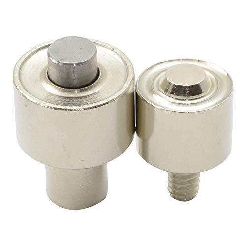 GETMORE Parts Werkzeug für Ösen, Ösenwerkzeug, Presswerkzeug, zweiteilig, für Ösenpresse, Handpresse, Hebelpresse, Nietpresse - für Metallösen, 10 mm