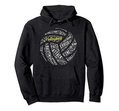 Volleyball Spieler Fan Outfit Pullover Hoodie