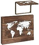 TIENDA EURASIA® Tapa Contador Electrico Decorativas de Ventana Muebles Decoración del hogar Diseño Original (MUNDO MARRON)