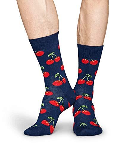 Happy Socks CHERRY Unisex Freizeitsocken Größe 41-46