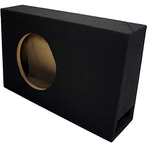 """Single 10"""" Subwoofer Standard Cab Truck Ported Stereo Sub Box Enclosure"""