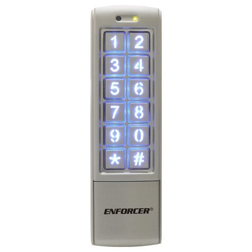 Seco-Larm SK-2323-SDQ Mullion-Style Weatherproof Digital Access Keypad; 12~24 VAC/VDC operation; 1010 Users (Output #1: 1,000 users/Output #2: 10 users); 2 Form C relays, each rated 1 Amp @ 30VDC