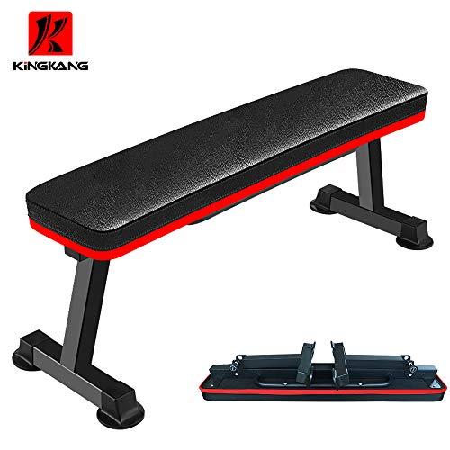 Banco de pesas plegable y plano, banco de levantamiento de pesas, banco de entrenamiento para casa o gimnasio