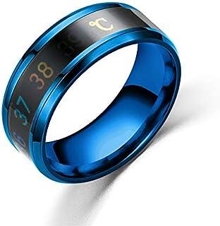 خاتم مصنوع من التيتانيوم المخصص للرجال والنساء (لون الحجر الرئيسي: النمط 1، مقاس الخاتم: 7)