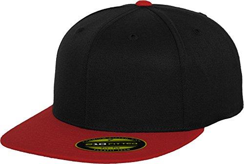 Flexfit Erwachsene Mütze Premium 210 Fitted 2-Tone, Blk/Red, L/XL, 6210T