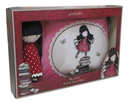 CYP- Set de Regalo muñeca y cojin Secreto Gorjuss New Heights 48x8,5x32 cm, Multicolor (CK-10R-G)