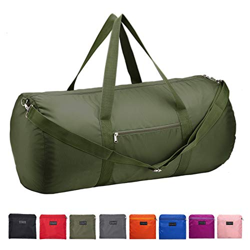 Vorspack Duffel Bag 28 Inches Foldable Lightweight Gym Bag with Inner Pocket for Travel Sports - Green