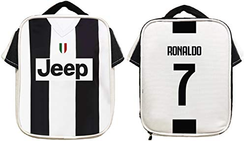 Forever Inc Cristiano Ronaldo #7 Soccer Jersey Lunch Premium CR7 Fan Gift Unique School Lunch Box Dimensions H 9.25 x W 7.3 x D 3.5 in (Ronaldo Lunch Bag)