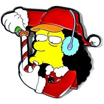 Pride Jewelry Otto Man Simpsons Candy Cane Smoking Novelty Art Pendant Lapel Hat Pin