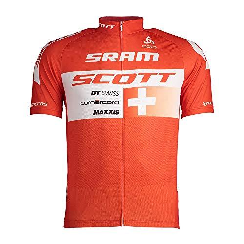 Odlo - Camisa Escocesa con Cremallera Completa para Hombre, Hombre, Color Scott Odlo Suisse 2017, tamaño Extra-Small