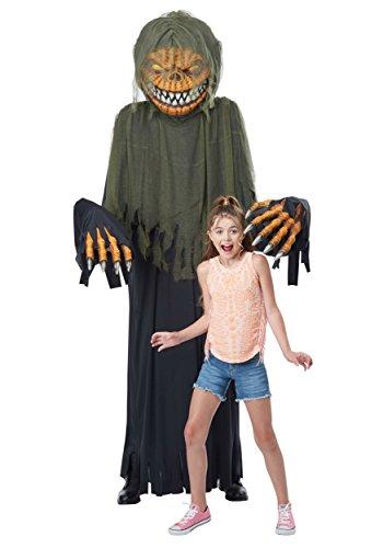 California Costumes Towering Terror Pumpkin - Adult Costume Adult Costume, -black/Green, One Size