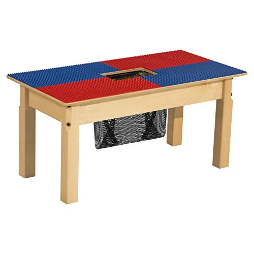 Time-2-Play Lego Table with Storage for Kids/Toddlers