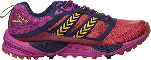 Brooks Cascadia 12, Zapatillas de Running para Asfalto Mujer, Multicolor (Poppyred/Peacoat/batonrouge), 36.5 EU