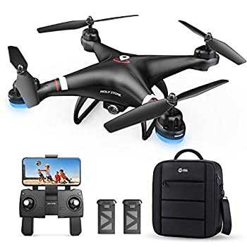 Holy Stone GPS Drone with 1080P HD Camera FPV Live Video for Adults and Kids Quadcopter HS110G with Carrying Bag 2 Batteries Altitude Hold Follow Me and Auto Return Easy to Use for Beginner