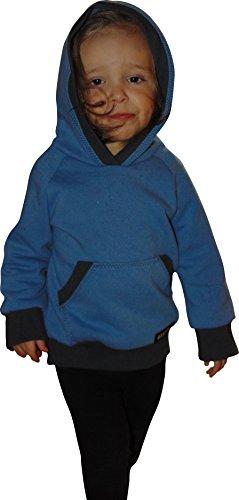 Mamadu Raglan- Pulli (Sweatshirt) mit Zipfelmütze und Bauchtasche für Babys Schnittmuster mit Anleitung für Anfänger, Größe 56-92 zum selber Nähen
