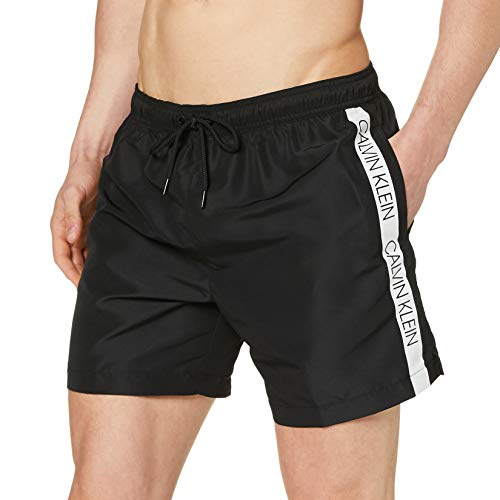 Calvin Klein Medium Drawstring Bermuda, Nero (Black 001), L Uomo