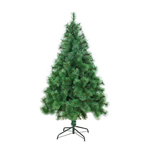Arbre de Noël vert arbre artificiel cryptage 1.2m Nouvel An décorations de vacances scène décoration 1.8m support en métal renforcé intérieur et extérieur1.5m (taille : 1.8m)