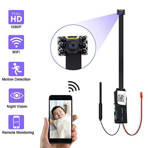 Mini Camara Espia Oculta,UYIKOO 1080P Mini WiFi Camara Espia de Seguridad Inalámbrica portátil,Camaras de Seguridad Pequeña Detección de Movimiento con Visión Nocturna para iPhone/Android