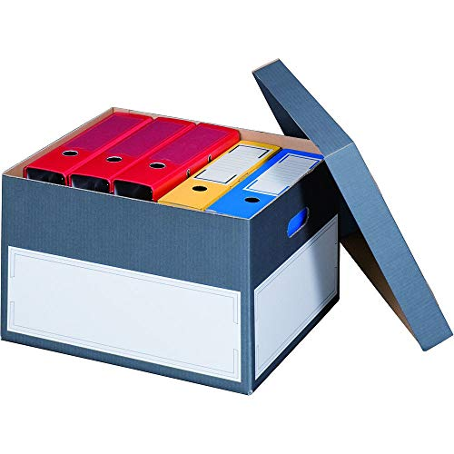 karton-billiger 10 Stück Archivschachteln'Premium' mit Boden und Deckel zur Ablage von Ordnern A4