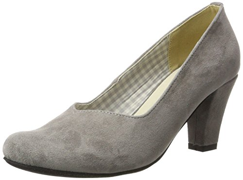 HIRSCHKOGEL Damen 3000507 Pumps Grau (Anthrazit 032) 35 EU