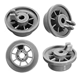 165314 Dishwasher Lower Rack Wheel Replacement Part for Bosch & Kenmore Dishwashers - Replaces 00420198 420198 - PACK OF 4