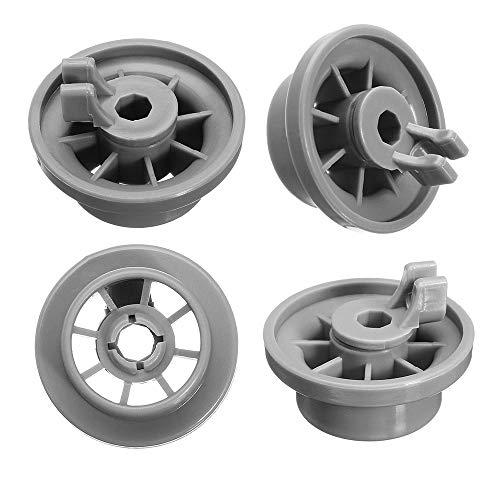 Repuesto de rueda inferior para lavavajillas 165314 por Exact Fit para lavavajillas Bosch & Kenmore – Reemplaza 00420198 420198 – Paquete de 4