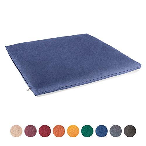 Lotuscrafts Tappeto Meditazione Zabuton Standard - Cuscino da Meditazione di Supporto - Rivestimento in Cotone Lavabile - Materassino Meditazione - Materasso Futon Meditazione - Certificato GOTS