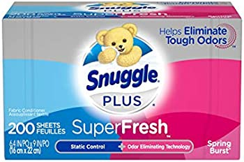 200-Count Snuggle Plus SuperFresh Fabric Softener Dryer Sheets