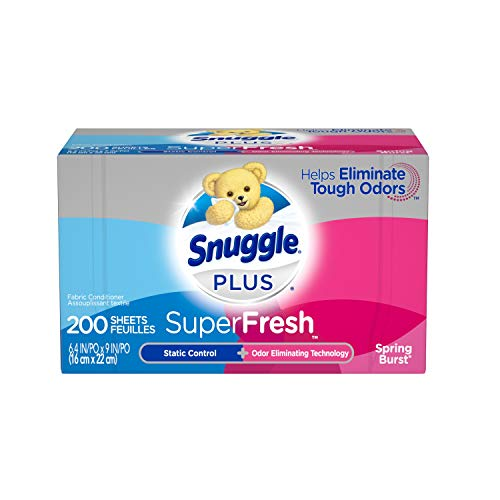 2 Pack Snuggle Plus SuperFresh Fabric Softener Dryer Sheets Now $6.88