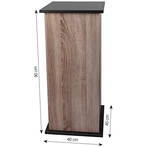 sera 32401 Unterschrank 90 cm mit Tür Walnut für Scaper Cube Aquarium
