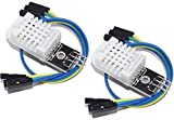 2pcs dht22 digital temperature humidity sensor am2302 module with pcb and cable   2pcs dht22 / am2302 sensor de temperatura y humedad para arduino y raspberry pi