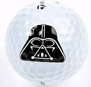 3 Dozen Darth Vader Logo Taylor Made Assorted Golf Balls + Free Poker Chip Golf Marker