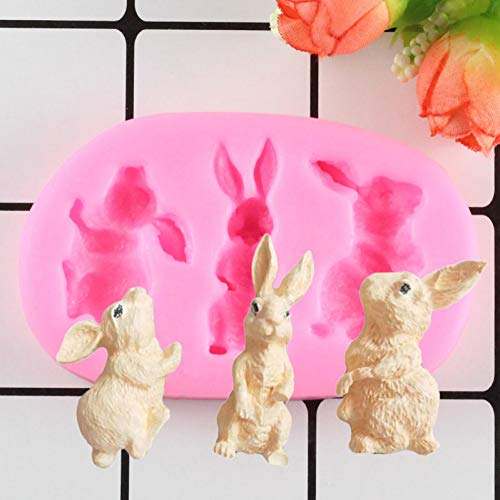LNOFG Animal Bunny Fudge Silicone Mold Decoration Tool Chocolate Mold Cake Glue Mold Soft Pottery Kitchen Cooking Tools