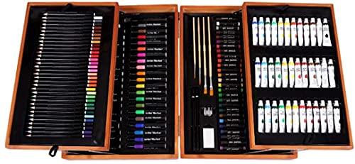 YUIOLIL Pro Adultos Kit de Dibujo Estuche de Madera Lápices de Colores Pintura Kit de Herramientas de Pintura