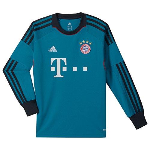 adidas Kinder Torwarttrikot FC Bayern München, Türkis/Schwarz, 164, G74127