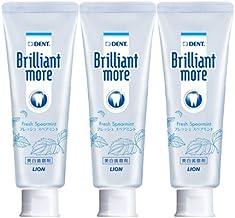 Lion Brilliant More 3.2 oz (90 g) x 3 Bottles (Quasi-drug) (Fresh Spearmint)