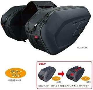 コミネ KOMINE バイク サドルバッグ モールデッドサドルバッグExp (拡張機能有り) フリー (36~58L) ブラック 09-212 SA-212