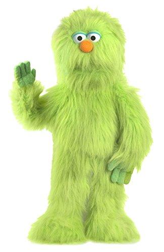 30インチのグリーンモンスターパペット フルボディ腹話術人形スタイルのパペット