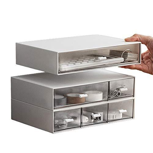 卓上小物ケース 小物入れ引き出し レターケース 書類ケース 収納ボックス 小物収納ボックス  三段 透明 卓上 文房具 化粧品 事務用品