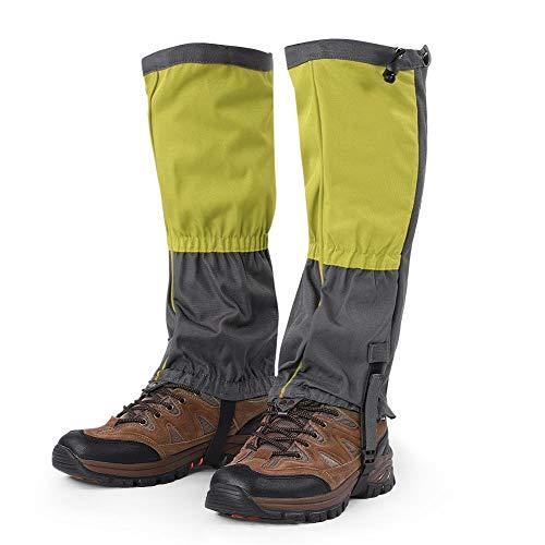 Tbest Wandern Gamaschen,1 para Unisex Schnee Bein Gamaschen Outdoor wasserdichte Sportstiefel Gamaschen Wandern Wandern Klettern Jagd Radfahren Leggings Abdeckung für Erwachsene(Grün)