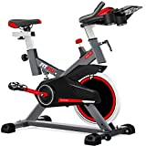 FITFIU BESP-100 - Bicicleta Spinning Indoor resistencia regulable con disco inercia 16kg,...