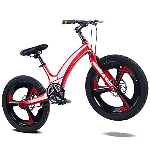 16/18/20 Pulgadas Bicicleta NiñOs MTB Bici Infantiles,NeumáTicos 2,5 Pulgadas Ancho/Freno Disco Una Sola Velocidad/Bicicleta Con AmortiguacióN Frenos Disco/Para NiñOs 5 A 14 AñOs