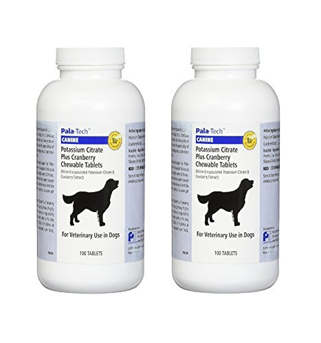 Pala-Tech Potassium Citrate Plus Cranberry 100 Chewable Tablets for Dogs (Pack of 2)